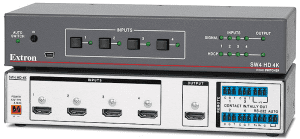 Mira Connect controls Extron video switchers