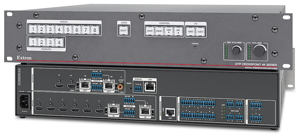 control Extron DTP CrossPoint with Mira Connect