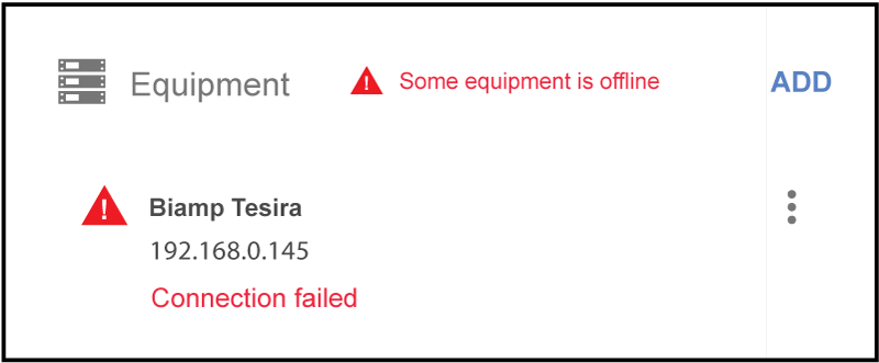 Connection failed status