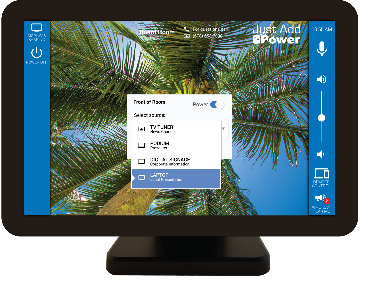 control Just Add Power AV-over-IP systems with Mira Connect
