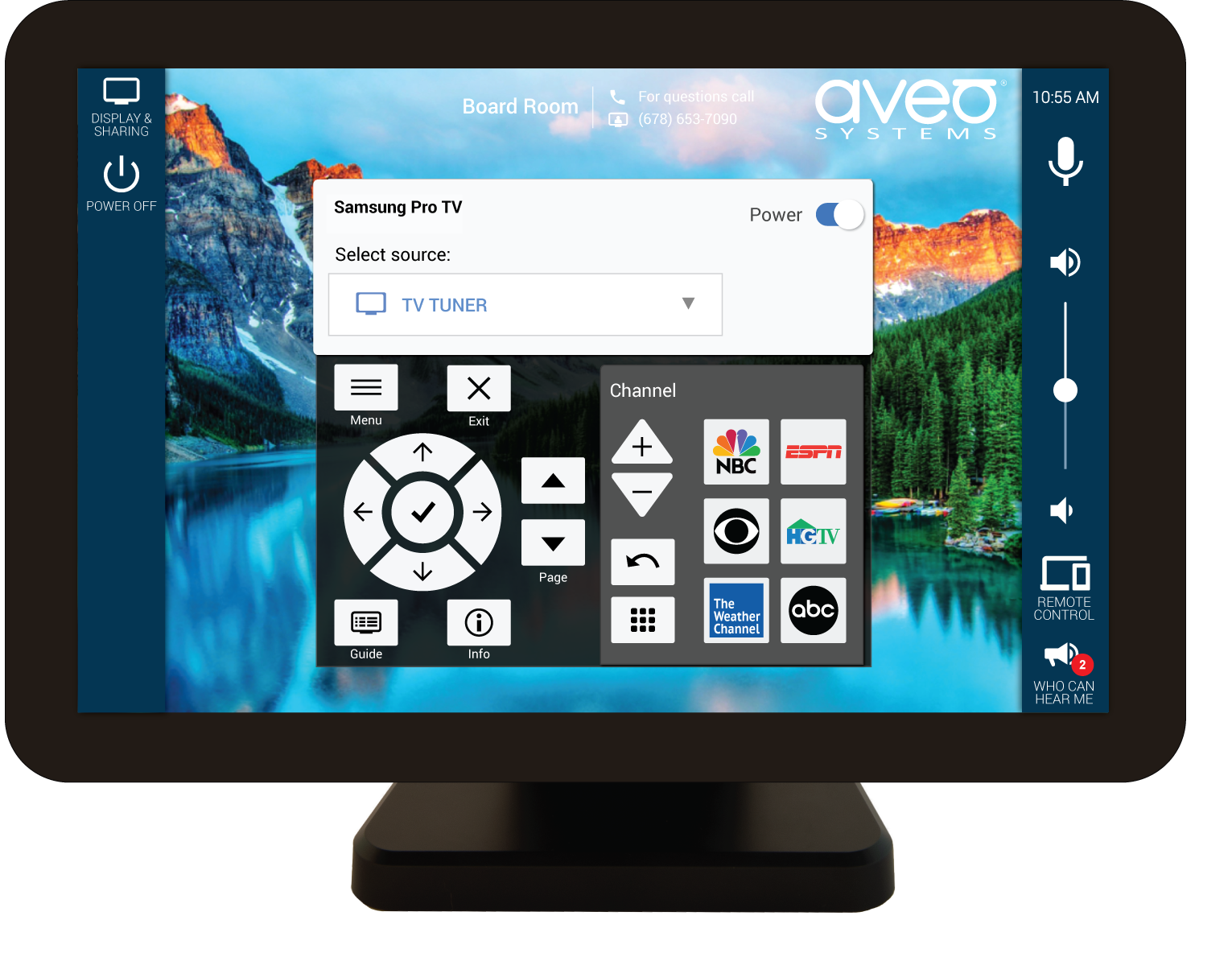 integrated user experience with Samsung Pro TVs and Mira Connect