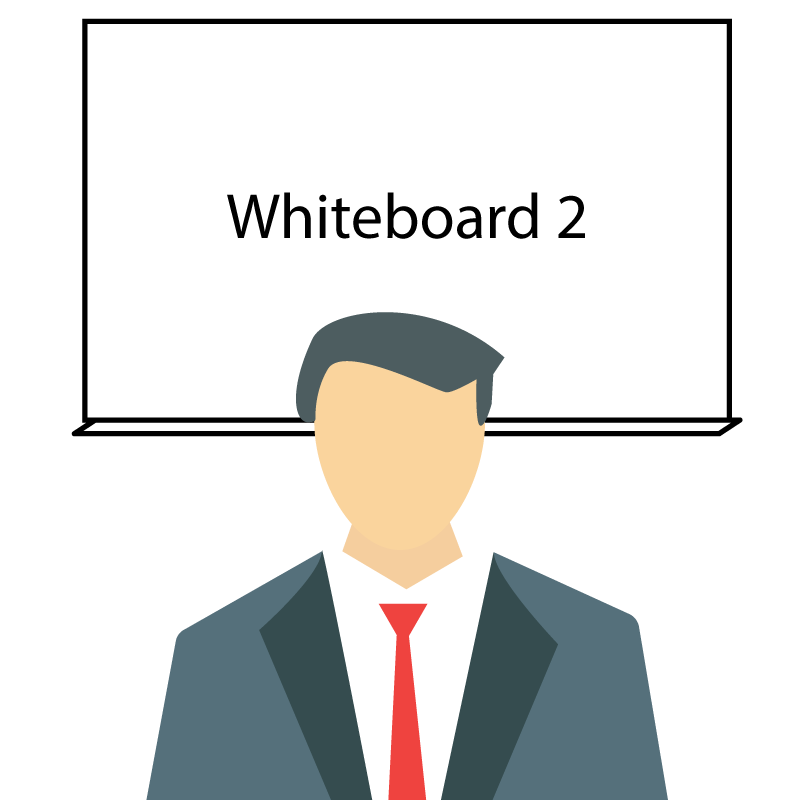 Instructor in front of whiteboard