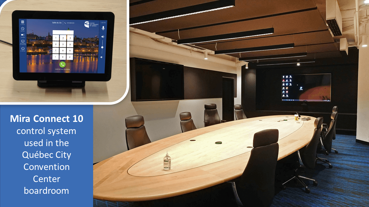 Mira Connect Brings Easy AV Control to Quebec City Convention Center